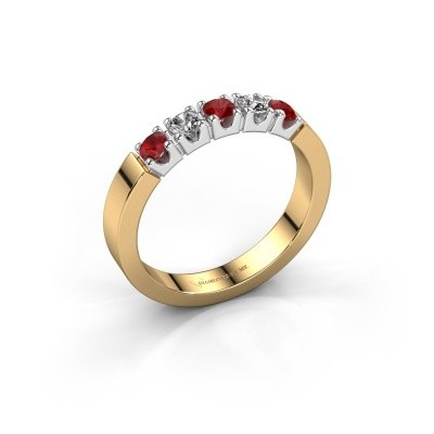 Picture of Engagement ring Dana 5 585 gold ruby 3 mm