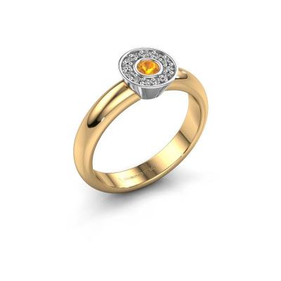 Ring Fiene 585 gold citrin 2.8 mm