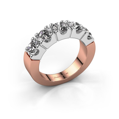 Engagement ring Dana 5 585 rose gold diamond 2.50 crt