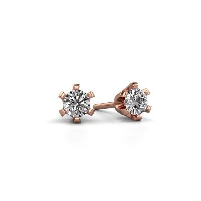 Picture of Stud earrings Shana 585 rose gold diamond 0.50 crt