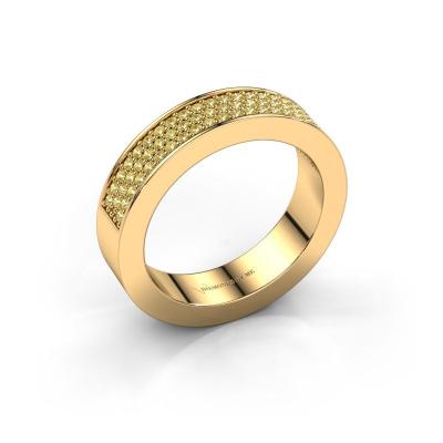 Ring Lindsey 2 585 goud gele saffier 1.1 mm