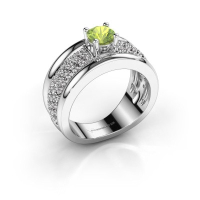 Picture of Ring Alicia 950 platinum peridot 5 mm