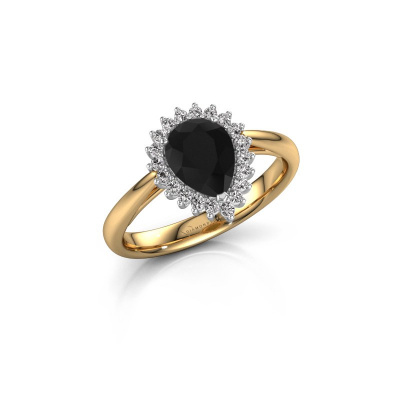 Foto van Verlovingsring Tilly per 1 585 goud zwarte diamant 1.25 crt