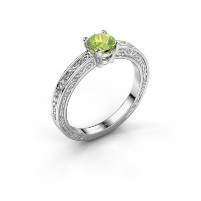 Picture of Engagement ring Claudette 1 925 silver peridot 5 mm