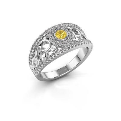 Foto van Ring Lavona 925 zilver gele saffier 3.4 mm