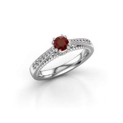 Picture of Engagement ring Rozella 585 white gold garnet 4.2 mm
