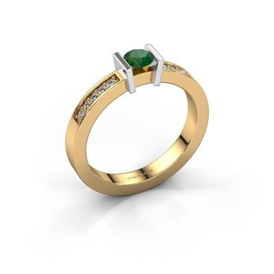 Engagement ring Maryam 585 gold emerald 4 mm