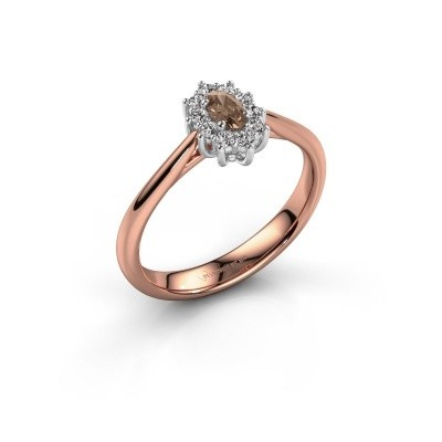 Foto van Verlovingsring Leesa 1 585 rosé goud bruine diamant 0.50 crt