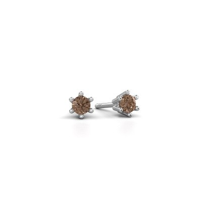 Picture of Earrings Fay 950 platinum brown diamond 0.15 crt