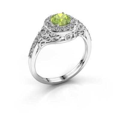 Ring Yurani 950 platina peridoot 6 mm