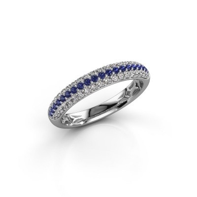 Picture of Ring Emely 2 585 white gold sapphire 1.3 mm