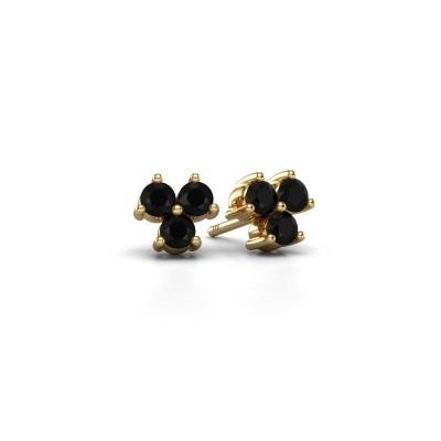 Bild von Ohrsteckers Shirlee 375 Gold Schwarz Diamant 0.72 crt