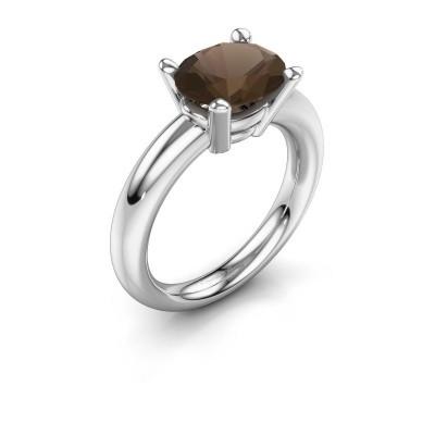 Ring Janiece 925 zilver rookkwarts 10x8 mm