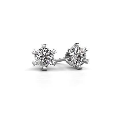 Oorstekers Shana 585 witgoud diamant 0.30 crt