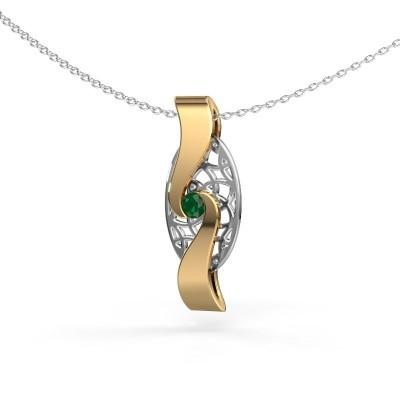Hanger Darleen 585 goud smaragd 3 mm