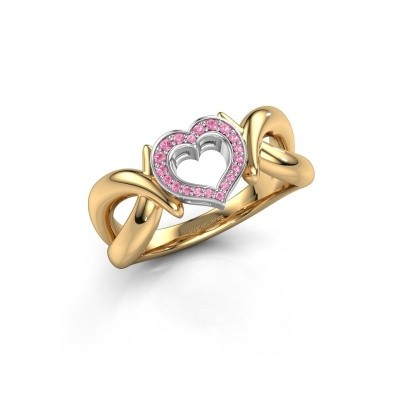 Ring Earlie 1 585 gold pink sapphire 1.1 mm