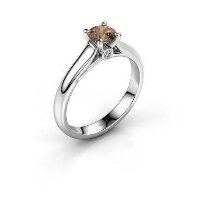 Verlovingsring Valorie 1 925 zilver bruine diamant 0.50 crt