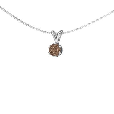 Foto van Ketting Julia 950 platina bruine diamant 0.50 crt