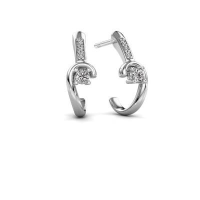 Earrings Ceylin 950 platinum zirconia 2.5 mm