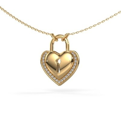 Picture of Necklace Heartlock 585 gold diamond 0.115 crt