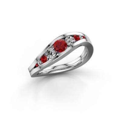 Picture of Ring Sigrid 2 585 white gold ruby 4 mm