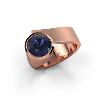 Ring Nakia 375 rosé goud saffier 8 mm