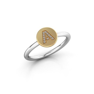 Ring Initial ring 050 585 witgoud