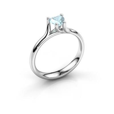 Verlobungsring Dewi Heart 925 Silber Aquamarin 5 mm