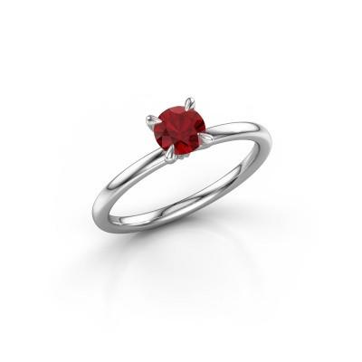 Bild von Verlobungsring Crystal RND 1 585 Weißgold Rubin 5 mm