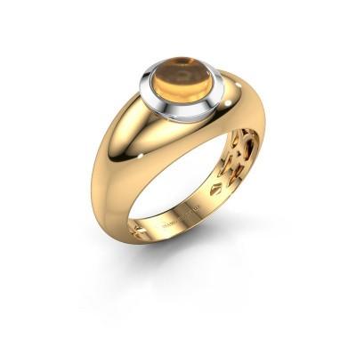Ring Sharika 585 gold citrin 6 mm