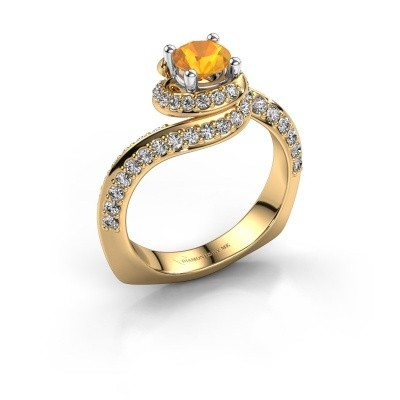 Engagement ring Sienna 585 gold citrin 5 mm