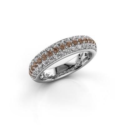 Foto van Ring Emely 6 925 zilver bruine diamant 0.952 crt