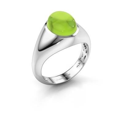 Ring Zaza 950 platina peridoot 10x8 mm