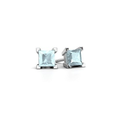 Picture of Stud earrings Ariane 925 silver aquamarine 5 mm