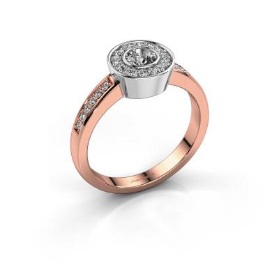 Ring Adriana 2 585 rosé goud zirkonia 4 mm
