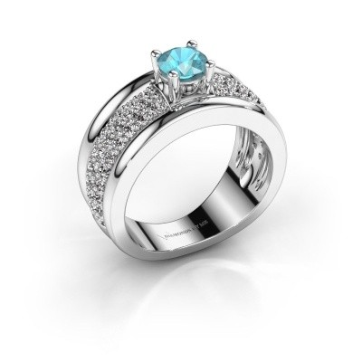 Picture of Ring Alicia 925 silver blue topaz 5 mm