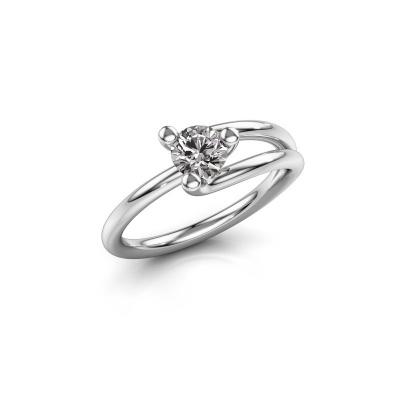 Picture of Engagement ring Roosmarijn 950 platinum diamond 0.50 crt