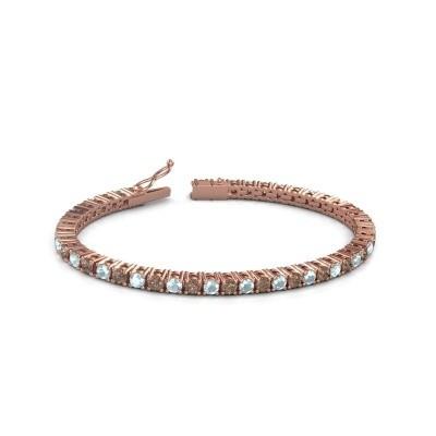 Tennisarmband Jenny 375 rosé goud bruine diamant 4.32 crt
