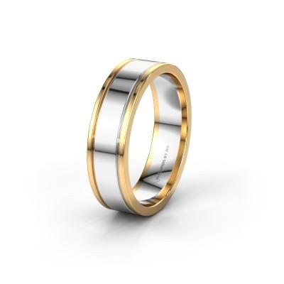 Wedding ring WH0600M16AP 585 white gold ±6x1.7 mm