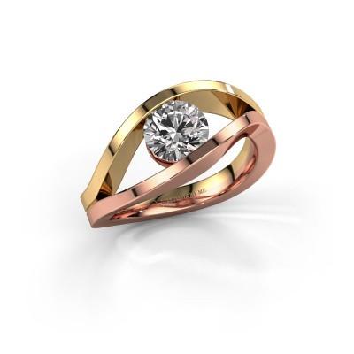 Aanzoeksring Sigrid 1 585 rosé goud diamant 1.00 crt