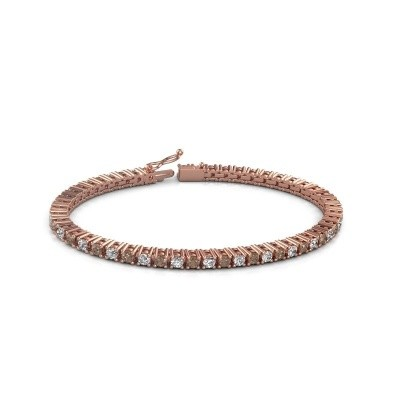 Tennis bracelet Petra 375 rose gold brown diamond 5.10 crt