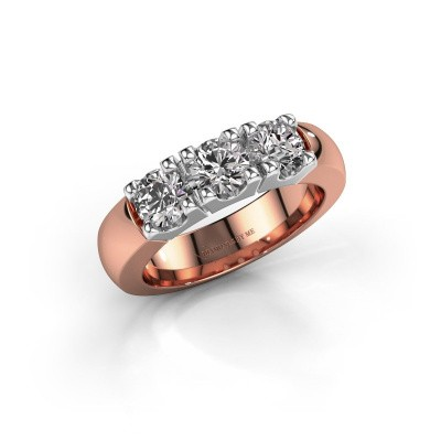 Foto van Verlovingsring Rianne 3 585 rosé goud diamant 1.20 crt