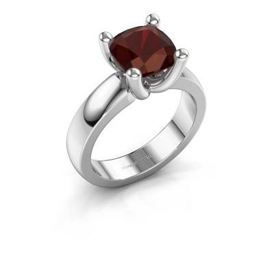 Ring Clelia CUS 925 Silber Granat 8 mm