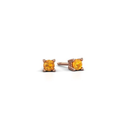 Foto van Oorknopjes Cather 375 rosé goud citrien 3.7 mm