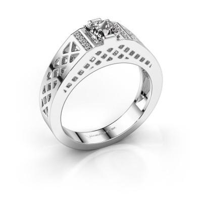 Heren ring Jonathan 950 platina zirkonia 5 mm