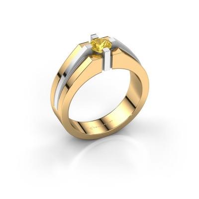 Foto van Heren ring Kiro 585 goud gele saffier 5 mm