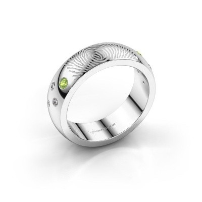 Picture of Ring Minke 950 platinum peridot 2 mm