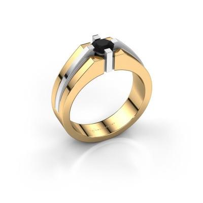 Foto van Heren ring Kiro 585 goud zwarte diamant 0.60 crt