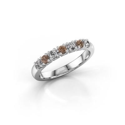 Foto van Belofte ring Rianne 7 585 witgoud bruine diamant 0.385 crt