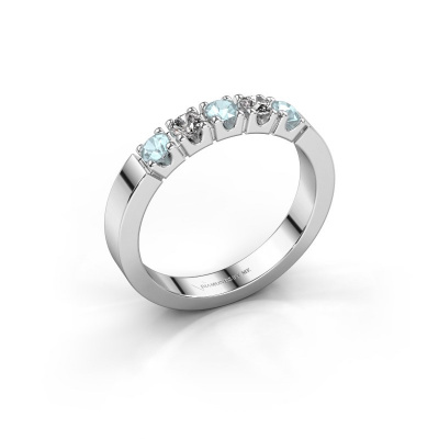 Engagement ring Dana 5 925 silver aquamarine 3 mm